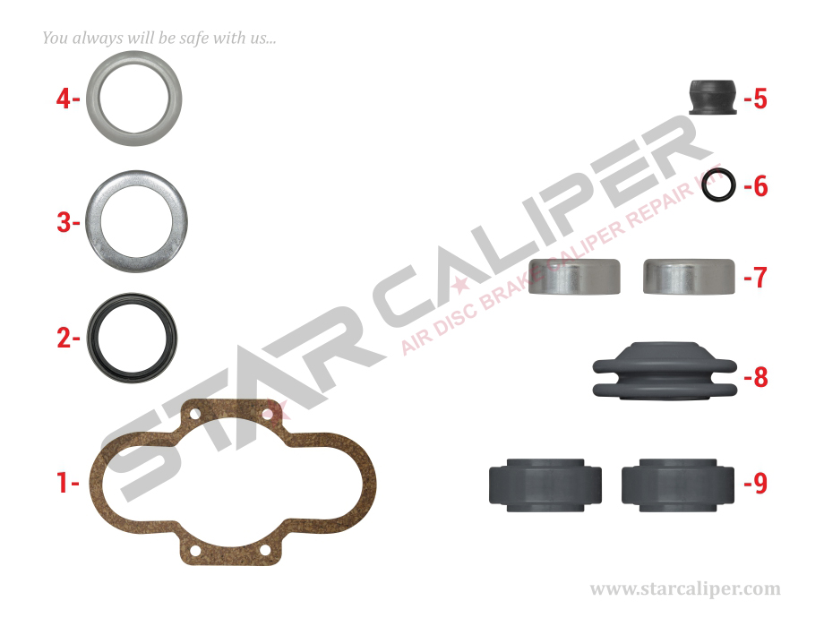 Caliper Overhaul Seal Kit